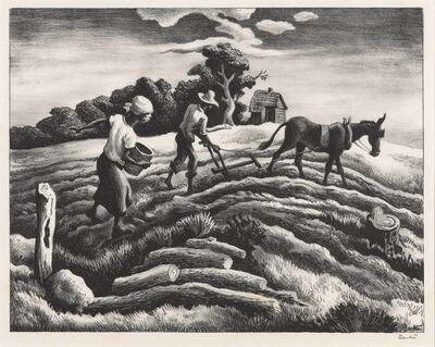 Thomas Hart Benton, 'Planting (Fath 28)', 1939