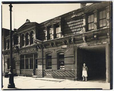 Berenice Abbott, 'Henry Maurer.  420-422 East 23rd Street.', 1938