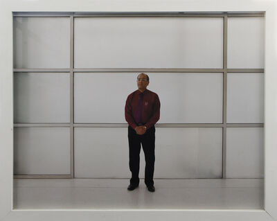 Bharat Sikka, 'Untitled IV (Executive man with grid)', 2001