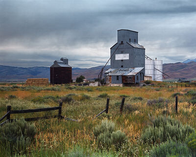 Laura McPhee, 'Grain Elevators at the Town of Corral, Camas County, Idaho, 2015 1/5'