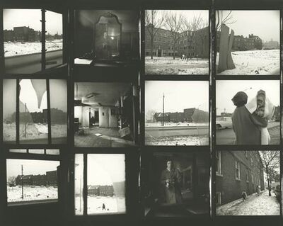 Vivian Maier, 'VM1963W00684 - Untitled (Contact Sheet) Snow Scenes', Printed 2017