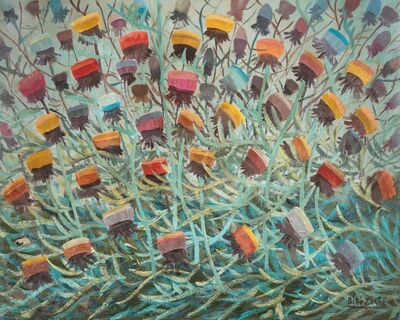 Bibi Zogbe, 'Cardos del Libano (Chardons du Liban)', painted on 1st August 1950.