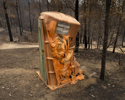 Gideon Mendel, 'BURNT PORTABLE TOILET, Upper Brogo, New South Wales', 2020