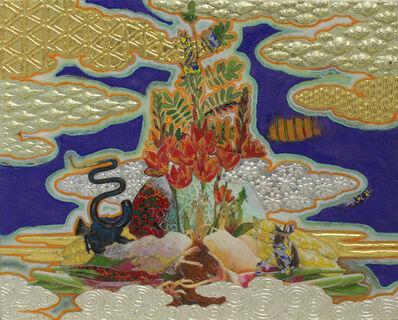 Masatake Kozaki, 'TORITONIMERONBARASHOGA(Chimera):bird/melon/rose/ginger', 2015