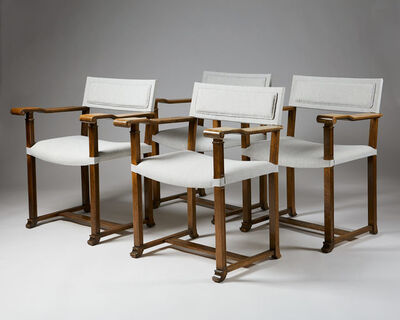Carl Bergsten, 'Set of four armchairs', ca. 1920