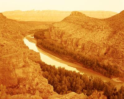 David Benjamin Sherry, 'Sunset on the Sierra Del Carmen Mountains along the Rio Grande, Big Bend National Park, Texas', 2020