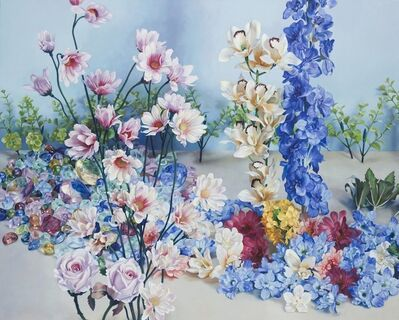 Korehiko Hino, 'Scenery with Pink Flowers', 2012
