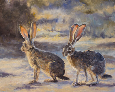 Marcia Geiger, 'Pair of Jack Rabbits', 2018