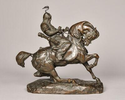 Antoine-Louis Barye, 'Tartar Warrior Checking His Horse', 19th century