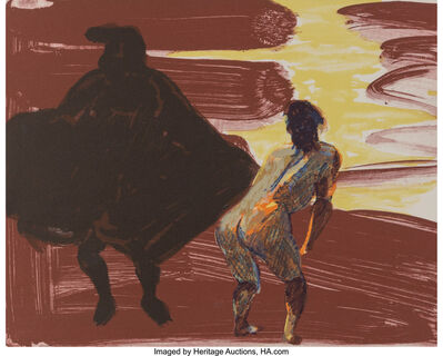 Eric Fischl, 'Annie, Gwen, Lily, Pam and Tulip (shadow with woman', 1986