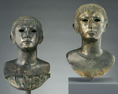 'Pair of Portrait Busts of Youths and Two Marble Eyes',  60 -70