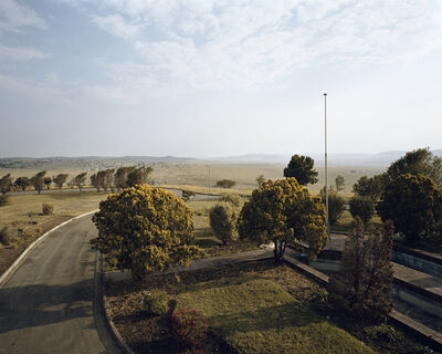 "Pieter Hugo, 'The view from ex-president Kaiser Matanzima's bedroom in the now-defunct Bantustan of Transkei, Mthatha, from the series ""Kin""', 2008"
