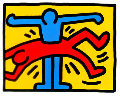 Keith Haring, 'Pop Shop VI Blue Man thru Red Man', 1989
