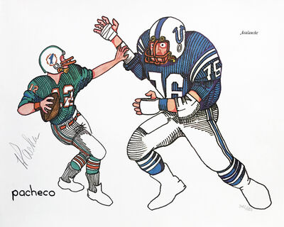 Ferdie Pacheco, 'AVALANCHE (COLTS DOLPHINS)', ca. 1980