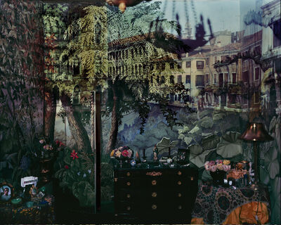 Abelardo Morell, 'A. Morell  2008 Camera Obscura: View of Volta del Canal in Palazzo Room Painted With Jungle Motif, Venice, Italy - Pigment Ink print 127 by 152.4 cms.jpg', 2008