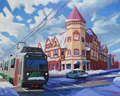 Chris Firger, 'Winter Sunrise (Coolidge Corner)', ca. 2019
