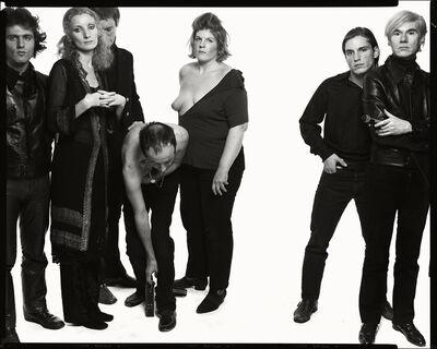 Richard Avedon, 'Andy Warhol and members of The Factory (#9), left to right:  Gerard Malanga, poet; Viva, actress; Paul Morrissey, director;  Taylor Mead, actor; Brigid Polk, actress; Joe Dallesandro, actor;  Andy Warhol, artist; New York, October 30, 1969.', 1969