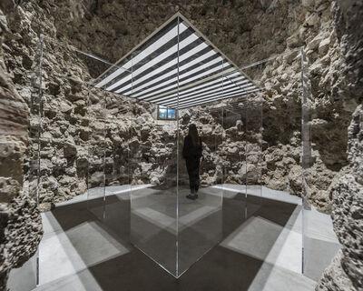 Daniel Buren, 'La Cabane éclatée transparente II', 2018