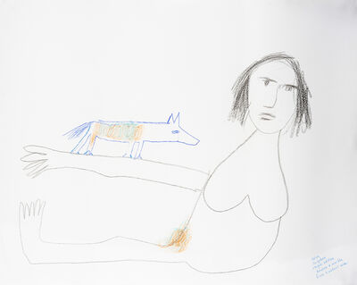Sidney Nolan, '(Woman with dog - Study for sculpture)', ca. c. 1980s
