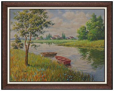Arthur Sarnoff, 'Arthur Sarnoff Oil Painting On Canvas Landscape Pin Up Illustration Original Art', 20th Century