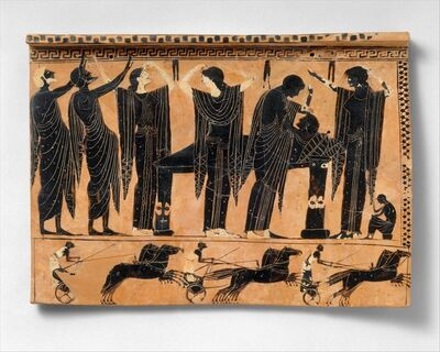 Unknown Greek, 'Terracotta funerary plaque', ca. 520–510 B.C.