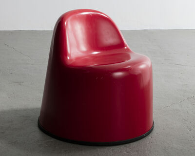 "Wendell Castle, '""Molar Group Baby Molar"" chair in gel-coated fiberglass reinforced plastic. Designed and manufactured by Wendell Castle, Rochester, New York, 1969.', 1969"