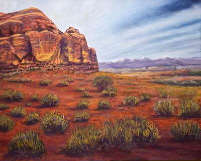 Anna Skacel, 'Sunset Over Red Rocks, Utah'