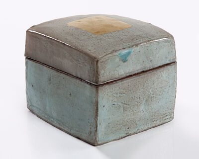 Lee Hun Chung, 'Ceramic box in traditional grayish-blue powdered celadon glaze with gold leaf', 2012