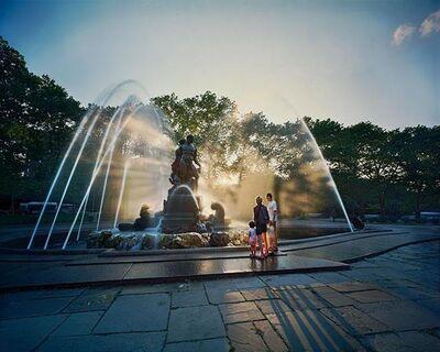 Jerry Spagnoli, 'Family and Fountain, Paris', 2007