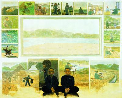 Dong Sik Rim, '자연예술가와 화가 - 봄', 2005