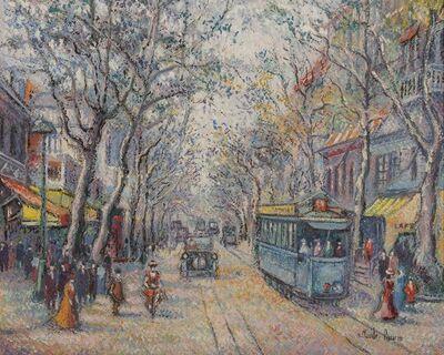 Hugues Claude Pissarro, 'Le tramway bleu, Nice'
