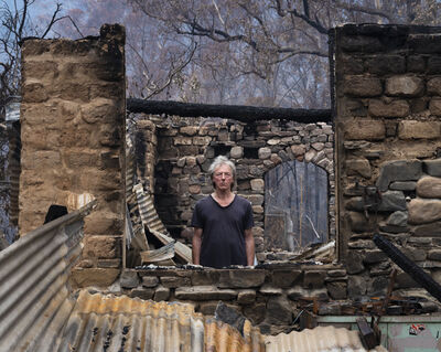 Gideon Mendel, 'MARCO FRITH AT HIS BURNT HOME, Wandella, New South Wales', 2020
