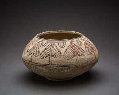 Unknown Asian, 'Indus Valley Terracotta Vessel with Pipal Leaf Motif', 3000-2000
