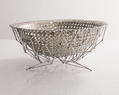 Johnny Swing, 'Unique large bowl in bent and welded coins on a stainless steel base. Designed and made by Johnny Swing, USA, 2016.', 2016