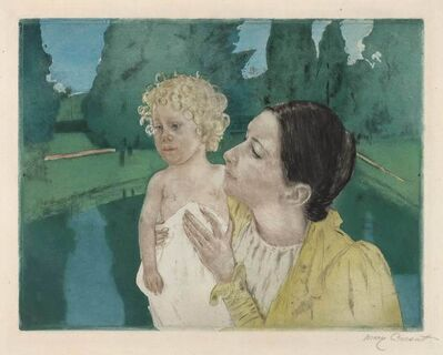 Mary Cassatt, 'By The Pond (Breeskin 161; Mathews/Shapiro 21)'