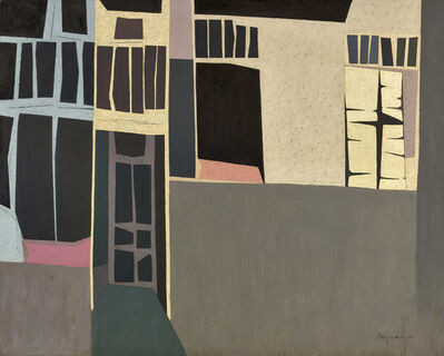 Karl Benjamin, 'Cube Buildings', 1954