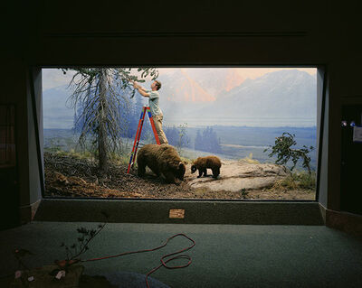 Richard Barnes, 'Mountain Scene with Man and Bears', 2005
