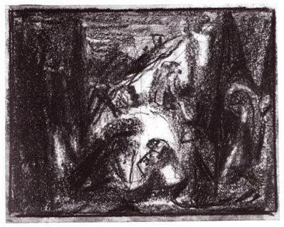 Adolf Hölzel, 'Krippenszene (nativity scene)', ca. 1930