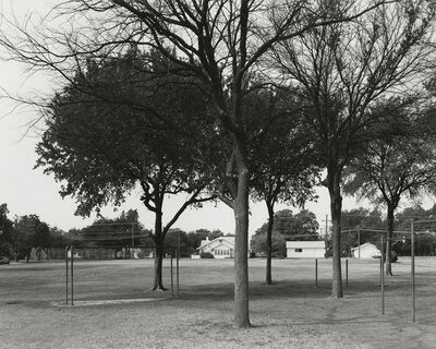 Frank Gohlke, 'Texas Memories #2: Playground of David Crockett Elementary School where I Attended Grades 1-7, Wichita Falls, Texas', 1984/1988-92