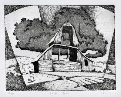 Jono Tew, 'Barn & Cloud'