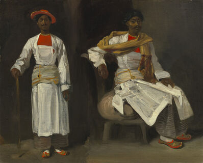 Eugène Delacroix, 'Two Studies of an Indian from Calcutta, Seated and Standing', ca. 1823/1824