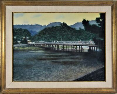 "joseph morgan henninger, '""Vue of Chiloa Bridge, Japan"" ', ca. 1950"