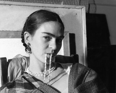 Lucienne Bloch, 'Frida Biting her Necklace', 1933