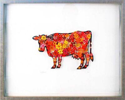 David Gerstein, 'Floral cow', 2007
