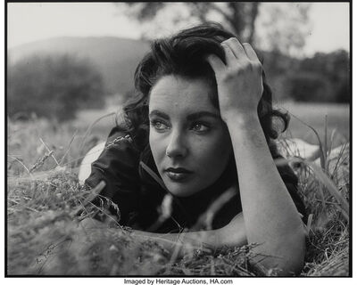 Peter Basch, 'Elizabeth Taylor on set of Giant, Virginia Plantation', 1956