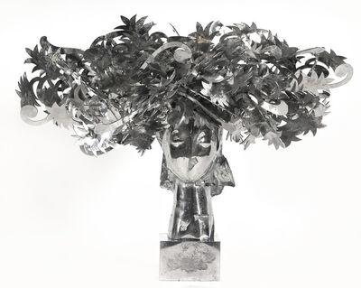 Manolo Valdés, 'Ada Cabeza Con Flores Plateadas', 2010