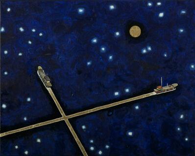 Oscar Oiwa, 'Two Ships Under the Moon Light 1', 2018