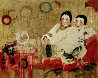 Hung Liu 刘虹, 'Two Chicks', 2007