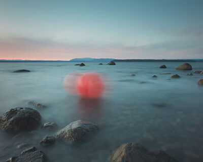 David Ellingsen, 'Unravelling Red in Veiled Blue, No 1(Fishing Buoy)', 2020
