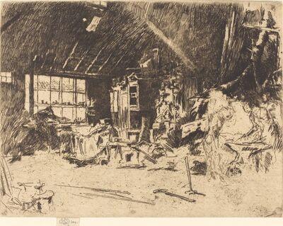 James Abbott McNeill Whistler, 'The Smithy', ca. 1880